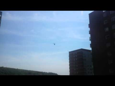 Military Helicopter over halifax West Yorkshire