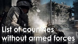 [HD] List of countries without armed forces - 24 countries