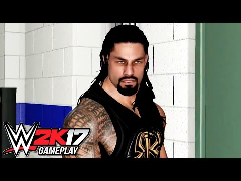 WWE 2K17 Roman Reigns Crowd & Backstage Brawls (Roman Reigns vs Sami Zayn PS4)