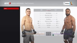 EA Sports UFC 3 Ranked Match: Woodley vs Diaz