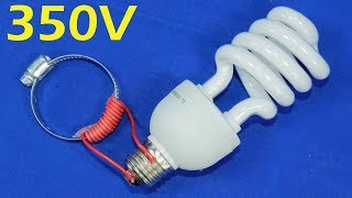 Free Electricity Generator 220V & 350V Capacitor Energy Light Bulb AC Electric Help With Magnet NEW