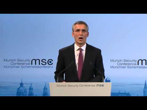 Speech of NATO Secretary Stoltenberg on Russia's nuclear threat. 2016 Munich Security Conference.