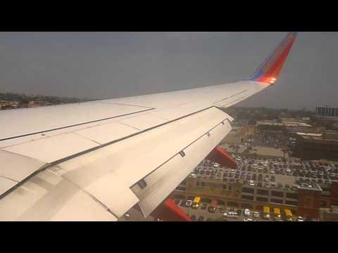 Southwest Airlines 737-800 landing Los Angeles,CA