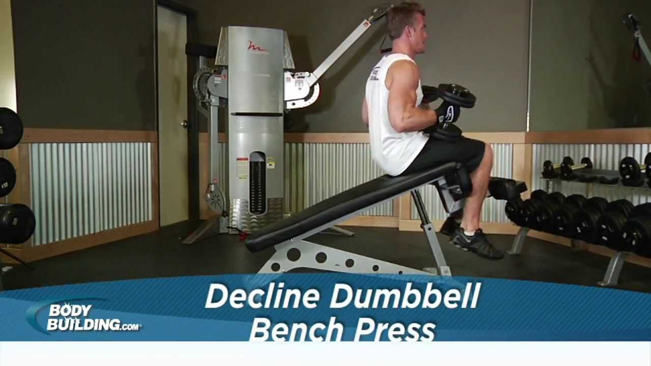 Decline Press Form Decline Dumbbell Bench Press