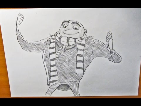Dibujar a Gru Mi Villano Favorito How to draw Gru Despicable Me