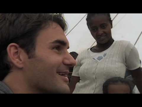 Roger Federer Ethiopia Visit Video