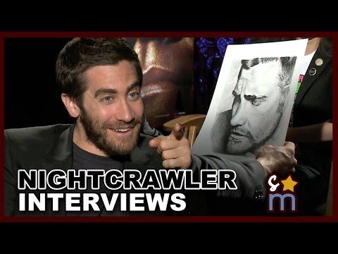 Jake Gyllenhaal LOVES My Drawing! NIGHTCRAWLER Interviews - Exclusive