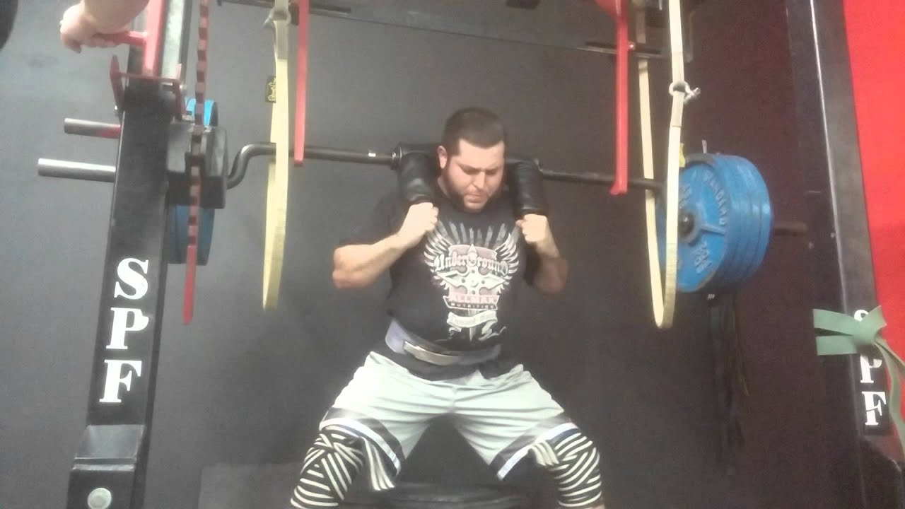 Safety squat bar box squat 2 youtube for Homemade safety squat bar