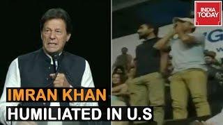 Baloch Activists Disrupt Pakistan PM Imran Khan's Speech In US