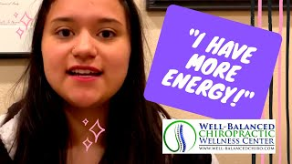 Daniella has more energy and less pain after chiropractic care
