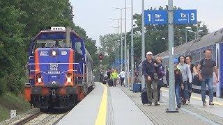 Seria opóźnień na stacji w Jastarni | 5 opóźnionych pociągów | 24.07.2017 |