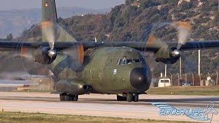 RARE! Luftwaffe Transall C-160D - Close-up Takeoff from Split Airport SPU/LDSP