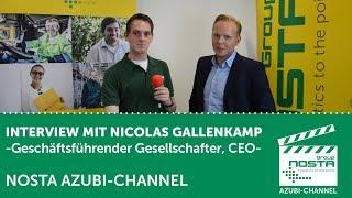 NOSTA Azubi-Channel - Interview mit Nicolas Gallenkamp (Geschäftsführender Gesellschafter, CEO)