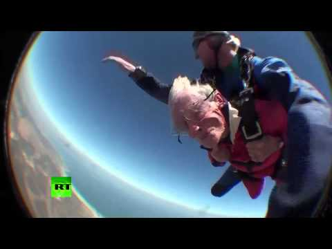Great-grandmother skydives on her 100th birthday