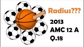 Finding a Radius of a Tangent Sphere (2013 AMC 12 A Problem 18)