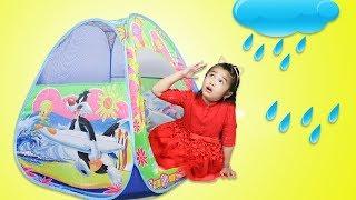 Hana Pretend Playing with Baby Doll Toy - Rain Rain Go Away Nursery Rhyme Song
