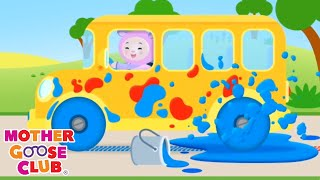 Wheels on the Bus Color Song + More | Mother Goose Club Nursery Rhymes