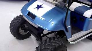Show Your Dallas Cowboys Pride With This E-Z-GO Custom Golf Cart, Tons Of Upgrades!!!