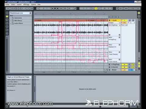 Les automations dans Ableton Live 7 - Tutoriel Elephorm