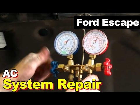 2010 Ford Escape AC Repair. Condenser. Auto Transmission Cooler. Accumulator. Drier. Expansion Valve