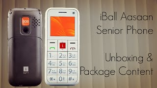 iBall Aasaan Senior Mobile Phone Unboxing & Package Content
