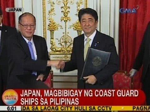 UB: Japan, magbibigay ng coast guard ships sa PHL