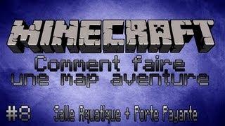 Minecraft Tuto [FR] Comment faire une map aventure - Part 8 - Salle Aquatique + Porte Payante