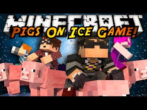 Minecraft Mini-Game : PIGS ON ICE!