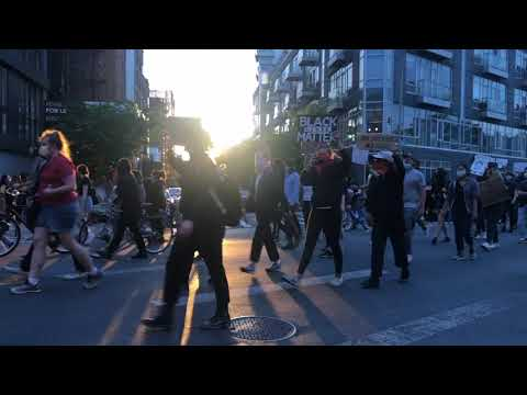 PEACEFUL PROTEST: BLACK LIVES MATTER MOVEMENT NYC 2020