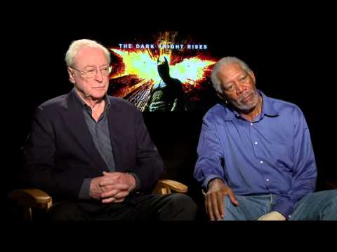 The Dark Knight Rises: Generic Sit Down Interview Michael Caine and Morgan Freeman [HD]