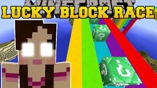 Minecraft: EVIL JEN'S EMERALD LUCKY BLOCK RACE - Lucky Block Mod - Modded Mini-Game