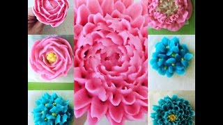 Tutorial How to make flowers from korean bean paste DIY