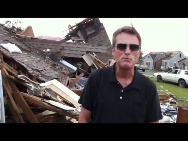 Michael W. Smith in Tuscaloosa Surveying Tornado Damage