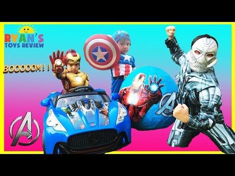 GIANT EGG SURPRISE OPENING AVENGERS Disney Toys