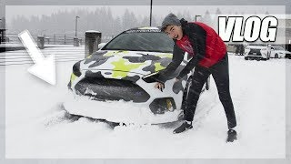 I SNOW-PLOW THE ROAD IN MY FOCUS RS! (Vlog)