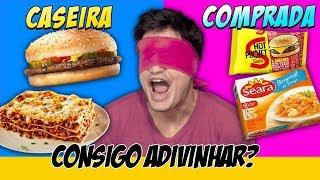 COMIDA CASEIRA vs COMPRADA. Consigo adivinhar?