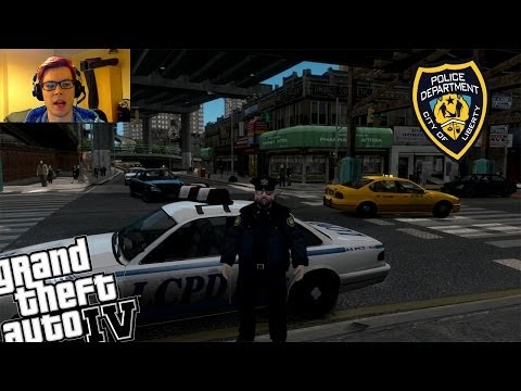 GTA 4 + Webcam New Updated LCPDFR 1.0 Version - Day 7 - Fat Boy Police Patrol!