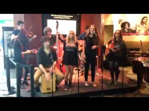 Nashville School of the Arts String Band perform at BNA