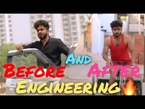 BEFORE AND AFTER ENGINEERING || Half Engineer || thumbnail