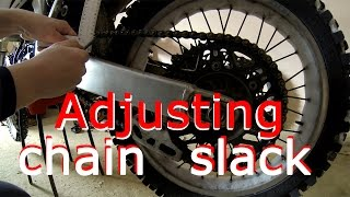 Yamaha YZ450F Chain slack adjusting