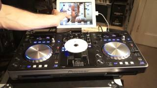 Pioneer XDJ-R1 Set  up to iPad and using a CD by ellaskins the DJ Tutor