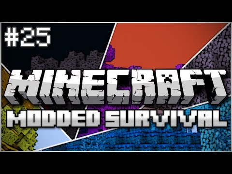 Minecraft: Modded Survival Let's Play Ep. 25 - Thinking With Portals