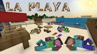 Minecraft - Mini Playa + Faro ( Redstone ) !