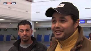 مصريون يعودون من ليبيا عبر جربة
