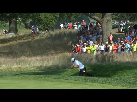Phil Mickelson's wizardry on the par-4 18th at The Barclays