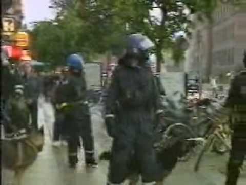 BBC News coverage of trouble before Arsenal vs Galatasray, Copenhagen 2000