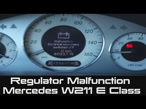 Mercedes E Battery Protection And Convenience Malfunction