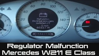 How to Replace Mercedes Regulator | Malfunction Electrical Consumers Switch Off | Alternator | W211