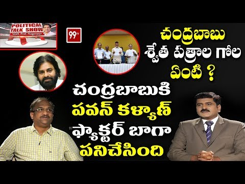 Political Talk Show with Prof K.Nageswar over Chandrababu White Papers | 99 TV Telugu