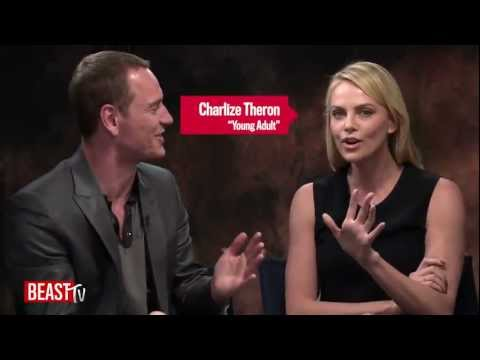 Fassbender & Theron  - Newsweek Oscar Roundtable 2012